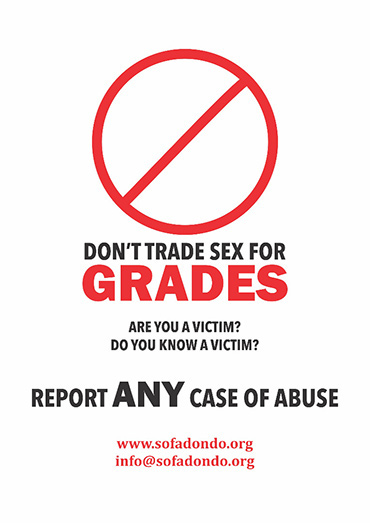 Don't trade sex for grades